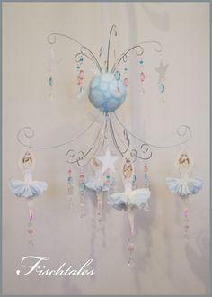 Ballerina Baby Mobile Nursery Mobile Nursery by fischtaledesigns
