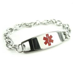 Modern, Steel Medical Alert: -   My-Identity-Doctor specializes in custom engraved medical alert bracelets.  Our BLACK engraving makes our medical bracelets easy to read.  This custom engraving on our medical ID bracelets helps doctors and paramedics know how to assist you or your loved ones in times of emergencies.  When engraving our medical bracelets, your safety is our number one concern.