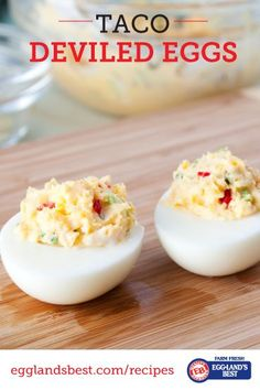 Taco Deviled Eggs recipe from Eggland's Best. We cannot get enough of deviled eggs around the holidays. I am definitely trying this variation. Nice to have lots of choices! Samosas, Empanadas, Egg Recipes, Appetizer Recipes, Mexican Food Recipes, Cooking Recipes, Appetizers, Recipies, Dinner Recipes