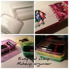 Making makeup organiser, it's very basic and rookie but it makes organisations easier :)