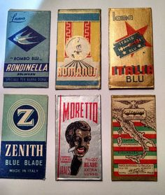 Lot 4 of Italian ITALY Safety Razor Blades in Wrappers Rare MORETTO Zenith