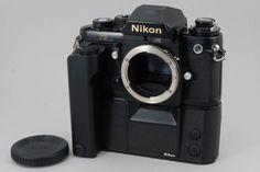 [Very Good]Nikon F3 Black-Camera w/MD-4 from Japan #100-1342647 #Nikon