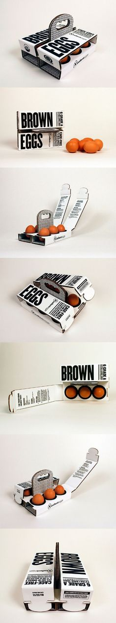 6 Brown Eggs (Concept) Designed by Sarah Machicado, a graduate from Maryland Institute College of Art.