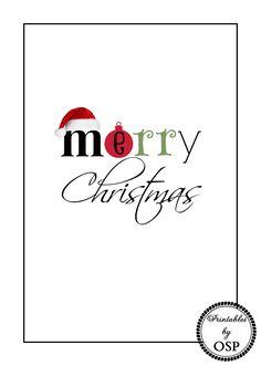 Merry Christmas Free Original Printable