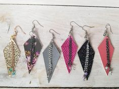 Image result for faux leather earrings