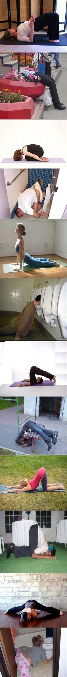 Dump A Day Yoga vs. Drunk Yoga - 12 Pics