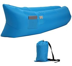 Kids' Sofas - Waterproof Inflatable lounger Couch Bed Sofa Air Bag Bean Bagair Sofa Lounger * Click on the image for additional details.
