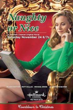 """Find out more about the Hallmark Channel Original Movie """"Naughty or Nice,"""" starring Hilarie Burton, Matt Dallas, Michael Gross & Meredith Baxter. Hallmark Channel, Películas Hallmark, Films Hallmark, Hallmark Holiday Movies, Great Christmas Movies, Xmas Movies, Christmas Shows, Family Movies, Great Movies"""