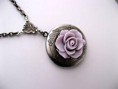 Antique Lockets Victorian Silver | Antique Silver Locket Necklace--