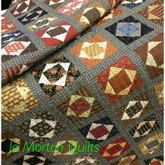 Smores quilt by Jo Morton Scrappy Quilts, Mini Quilts, Easy Quilts, Antique Quilts, Vintage Quilts, Vintage Sewing, Patch Quilt, Quilt Blocks, Bonnie Hunter
