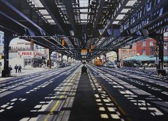 Paintings (paintings!) of urban landscapes