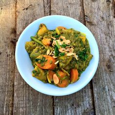 Another look at today's Puy lentil & coconut Dahl with toasted flaked almonds and chive Dahl, Almonds, Superfoods, Lentils, Guacamole, Pear, Vegan Recipes, Coconut, Ethnic Recipes