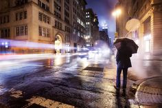 'A Foggy Empire', #UnitedStates, #NewYork City, 5th Avenue & 20th St., Cold Spring Night