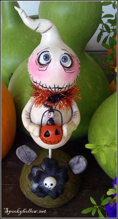 OOAK Halloween Ghost Grimmy art doll.