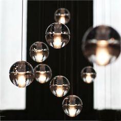 Kaufen Pendelleuchte Modern Kristall Galvanisiert Transparent Kugel mit Günstigste Preis und Gute Service!