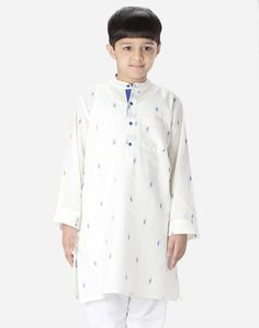 Cotton Dobby Independence Buti Long Kurta