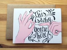 An immature yet honest birthday card by LarkandLevity on Etsy