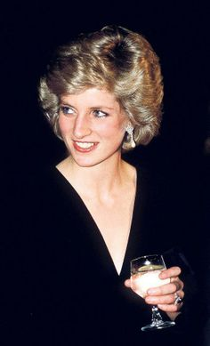 "October 10, 1985: Princess Diana at the gala opening of ""Les Miserables "" at the Barbican Centre."