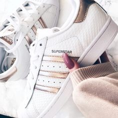 Adidas Superstars White/Copper Metalic
