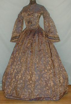 1850s Fashion, American Civil War, Historical Clothing, Blue Gold, Originals, Special Occasion, Victorian, Costume, Fun