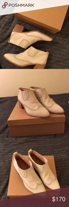 Madewell Grayson Chelsea Boot Mint condition never worn beautiful suede canvas colored Chelsea boot. Size 9.5. These are to die for. Rare find. From Fall '16 collection. New in the box. Ships with stuffing and plastic. Item description from Madewell.com in the last photo. Madewell Shoes Ankle Boots & Booties