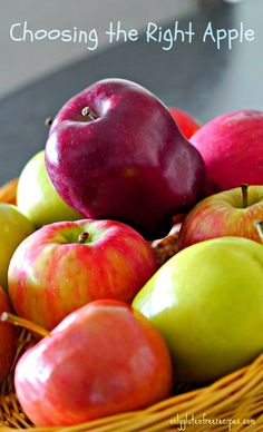 Choosing the right apple in baking makes all the difference, find out why.....