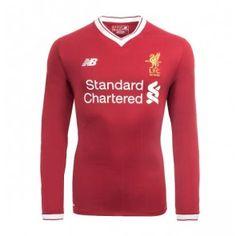 Liverpool Domácí Dres 17-18 Dlouhý Rukáv Liverpool Fc, Graphic Sweatshirt, T Shirt, Manchester United, Premier League, Chelsea, Sweatshirts, Long Sleeve, Sleeves