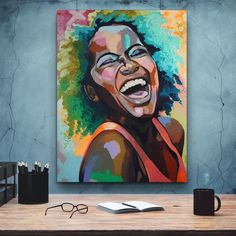 Art of African-American female beauty, African art, canvas decoration for the living room, wall Art Africain, Black Women Art, African American Women, Home Wall Art, Beautiful Paintings, Contemporary Paintings, African Art, Female Art, Vector Art