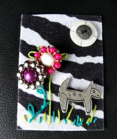 Buttons and Thread ACEO Painting by texaseagle, $10.00 USD