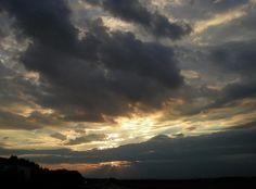 Over the A3 near Schlüsselfeld in august