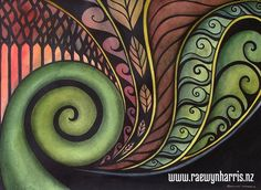 Koru art, landscapes, paintings, Aotearoa, New Zealand, koru, Maori,nature, patterns,Pacifica,land,fern, frond