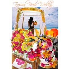 Tropical Beach #Wedding Ideas