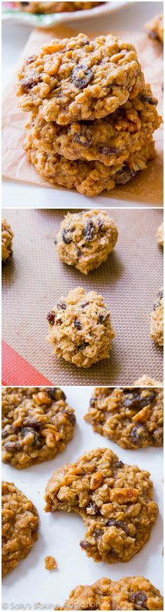 The BEST Oatmeal Raisin Cookies. They will absolutely melt in your mouth! Buttery, brown sugared, soft, and spiced with cinnamon.