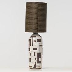 Piasa Guido Gambone (1909-1969) Lampe Céramique émaillée Signée Date de création : vers 1950 H 49 cm