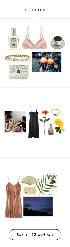 """""""memories"""" by theperfumemaker ❤ liked on Polyvore featuring Rituel by Carine Gilson, Ellen Hunter, Acqua di Parma, Proenza Schouler, Crate and Barrel, Halston Heritage, Gucci, Juliet Dunn, Eres and ASOS"""