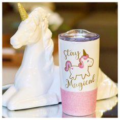 Stay Magical Unicorn Glitter Travel Mug Unicorn Mug