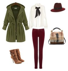 """""""Autumn wibe"""" by lilyks on Polyvore featuring H&M, AG Adriano Goldschmied, rag & bone, Burberry and Chloé"""