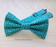 Adjustable Bowtie.Wedding Bowtie.Gift Ideas.Prom Bow Tie.Teal Color Bow Tie