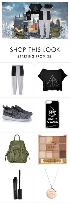 """""""Harry potter!"""" by zoeholmquist on Polyvore featuring Rachel Comey, NIKE, CellPowerCases, Topshop, Smashbox, Kate Spade and Pieces"""