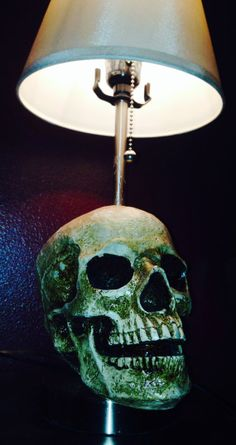 Skull Lamp by MatchstickINK on Etsy, $50.00