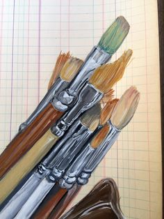 Close up 2 of 2. I have 5 of these vintage bird vases I use to hold my brushes. They make me happy. paulajmontgomery#art #drawing #gouache #painting #sketch #sketchbook #artist #illustration #gouachepainting #gouachepaint #draw #watercolor #paint #artwork #instaart #mixedmedia #watercolour #artistsoninstagram #creative #instaartist #sketching #artclass #artclasses #artteacher #arteducation #artschool #paulamontgomery #bird #vase