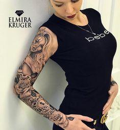 3,257 vind-ik-leuks, 30 reacties - @elmirakruger op Instagram: 'Сделали рукав за 4 дня Отправили в Мск#elmirakruger#bolnobudet #adidas #sport#fitnessgirl #tattoo…'