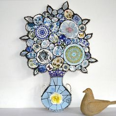 OMG, I love this mosaic!  Anna Tilson.  Look at the handles from the tea cups!