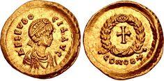 Aelia Eudocia. Augusta, AD 423-460. AV Tremissis (15mm, 1.50 g, 6h). Constantinople mint. Struck under Theodosius II, circa AD 423-440. my coll.