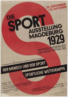 MoMA | The Collection | Walter Dexel. Die Sport Ausstellung (The Sport Exhibition). 1929