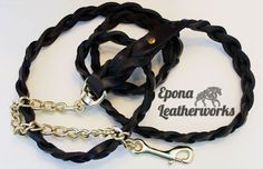 Our most popular design in lead form. Hand braided from head to toe, this lead sports our signature twist by the chain. $70.00