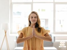 View top-quality stock photos of Young Woman Wearing A Dress Practising Yoga. Find premium, high-resolution stock photography at Getty Images. Migraine, Vanity Fair, Home Yoga Practice, Chronic Fatigue, Yoga Fitness, Women Wear, Short Sleeve Dresses, Summer Dresses, How To Wear
