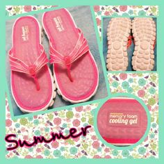 e8d682bfd7cb2 Like new Sketchers sandals Lovely pink color for summer.. memory foam  cooling gel.