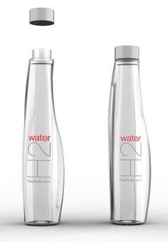 Water Bottle Concept on Packaging of the World - Creative Package Design… Water Packaging, Glass Packaging, Food Packaging Design, Beverage Packaging, Packaging Design Inspiration, Plastic Bottle Design, Water Bottle Design, Agua Mineral, Mineral Water
