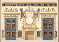 Adam, Robert | Design for the painted Breakfast Room in the Family Pavilion…